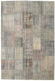 Patchwork Tapis 205X304 Moderne Fait Main Gris Clair/Gris Foncé (Laine, Turquie)