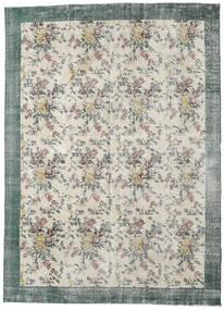 Colored Vintage Tapis 224X307 Moderne Fait Main Gris Clair/Beige Foncé (Laine, Turquie)