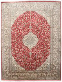 Cachemire Pure Soie Tapis 279X363 D'orient Fait Main Gris Clair Grand (Soie, Inde)