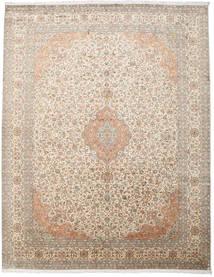 Cachemire Pure Soie Tapis 277X360 D'orient Fait Main Gris Clair/Beige Grand (Soie, Inde)