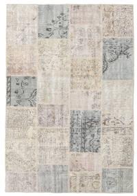 Patchwork Tapis 158X232 Moderne Fait Main Gris Clair (Laine, Turquie)