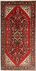 Hamadan Tapis 160X323 D'orient Fait Main Tapis Couloir Rouge Foncé/Rouille/Rouge (Laine, Perse/Iran)