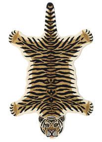 Tiger - Beige Tapis 100X160 Moderne Bleu Foncé/Marron Clair (Laine, Inde)