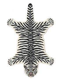 Tiger - Blanc Tapis 100X160 Moderne Noir/Beige (Laine, Inde)