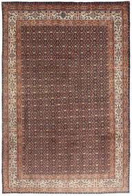Moud Tapis 193X295 D'orient Fait Main Rouge Foncé/Marron Foncé (Laine/Soie, Perse/Iran)