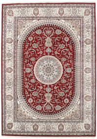 Naïn Indo Tapis 253X357 D'orient Fait Main Gris Clair/Rouge Foncé Grand ( Inde)