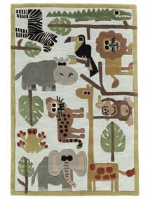 Zoo Handtufted Tapis 120X180 Moderne Bleu Clair/Gris Clair (Laine, Inde)