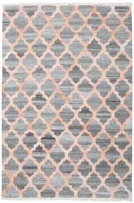 Kathi - Gris/Coral Tapis 200X300 Moderne Tissé À La Main Gris Clair/Gris Foncé/Rose Clair ( Inde)
