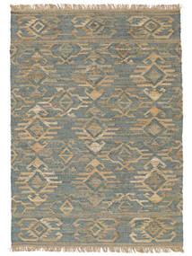 Kalahari Jute Tapis 200X300 Moderne Tissé À La Main Gris Clair/Bleu Turquoise ( Inde)