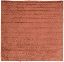 Soho Soft - Terracotta Tapis 250X250 Moderne Carré Rouge Grand (Laine, Inde)