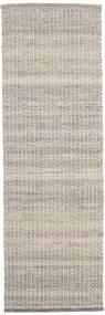 Alva - Marron/Blanc Tapis 80X250 Moderne Tissé À La Main Tapis Couloir Gris Clair/Beige (Laine, Inde)