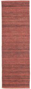 Alva - Dark_Rust/Noir Tapis 80X250 Moderne Tissé À La Main Tapis Couloir Rouge Foncé/Marron Foncé (Laine, Inde)