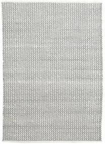 Alva - Blanc/Noir Tapis 160X230 Moderne Tissé À La Main Gris Clair/Gris Foncé (Laine, Inde)