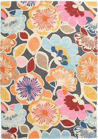 Flower Power - Multi Tapis 160X230 Moderne Rose Clair/Gris Foncé (Laine, Inde)
