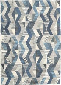 Ziggyn - Gris/Bleu Tapis 160X230 Moderne Gris Clair/Beige Foncé (Laine, Inde)