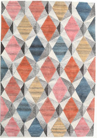 Prisma - Multi Tapis 160X230 Moderne Gris Clair/Rose Clair (Laine, Inde)