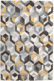 Cube - Gris/Doré Tapis 200X300 Moderne Gris Clair/Gris Foncé (Laine, Inde)