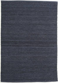 Alva - Bleu/Noir Tapis 140X200 Moderne Tissé À La Main Bleu Foncé/Violet (Laine, Inde)