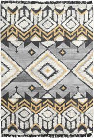 Deco Tapis 160X230 Moderne Tissé À La Main Gris Clair/Beige Foncé (Laine, Inde)