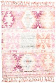 Märta - Rose Tapis 120X180 Moderne Fait Main Beige/Rose Clair (Laine, Inde)