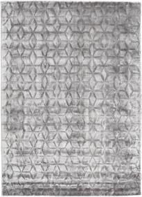 Diamond - Gris Tendre Tapis 140X200 Moderne Gris Clair/Marron Foncé ( Inde)