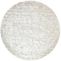 Crystal - Blanc Argent Tapis Ø 250 Moderne Rond Gris Clair/Beige Foncé/Beige Grand ( Inde)