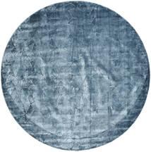 Crystal - Steel Blue Tapis Ø 250 Moderne Rond Bleu Foncé/Bleu Clair/Bleu Grand ( Inde)
