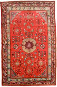 Samarkand Vintage Tapis 161X250 D'orient Fait Main Rouille/Rouge/Rouge Foncé (Laine, Chine)