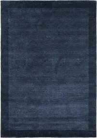 Handloom Frame - Bleu Foncé Tapis 160X230 Moderne Bleu Foncé (Laine, Inde)