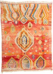 Berber Moroccan - Mid Atlas Tapis 221X295 Moderne Fait Main Orange/Beige Foncé (Laine, Maroc)