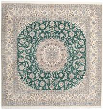 Naïn 9La Tapis 302X304 D'orient Fait Main Carré Gris Clair/Beige Grand (Laine/Soie, Perse/Iran)