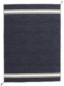 Ernst - Navy/Blanc Écru Tapis 140X200 Moderne Tissé À La Main Bleu Foncé/Gris Foncé (Laine, Inde)