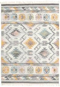 Mirza Tapis 160X230 Moderne Tissé À La Main Gris Clair/Beige (Laine, Inde)