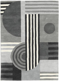 Tilt - Gris Tapis 140X200 Moderne Gris Clair/Vert Foncé (Laine, Inde)