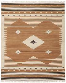 Tribal - Jaune Moutarde Tapis 250X300 Moderne Tissé À La Main Marron/Beige Grand (Laine, Inde)