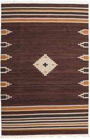 Tribal - Marron Tapis 200X300 Moderne Tissé À La Main Marron Foncé (Laine, Inde)