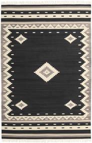Tribal - Noir Tapis 200X300 Moderne Tissé À La Main Noir/Beige (Laine, Inde)