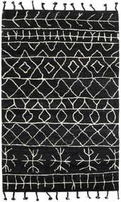 Moss Berber - Noir Tapis 180X275 Moderne Fait Main Noir (Laine, Inde)