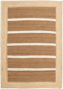 Tapis D'extérieur Frida Stripe - Marron Tapis 160X230 Moderne Tissé À La Main Beige Foncé/Beige/Marron Clair (Tapis De Jute Inde)
