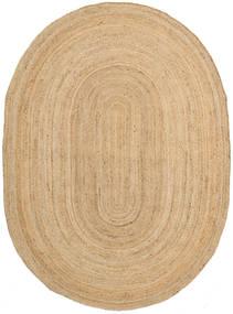 Tapis D'extérieur Frida Oval - Natural Tapis 140X200 Moderne Tissé À La Main Beige Foncé/Beige (Tapis De Jute Inde)