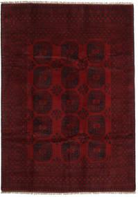 Afghan Tapis 199X281 D'orient Fait Main Marron Foncé/Rouge Foncé (Laine, Afghanistan)