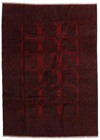 Afghan Tapis 201X280 D'orient Fait Main Marron Foncé/Rouge Foncé (Laine, Afghanistan)
