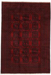 Afghan Tapis 197X284 D'orient Fait Main Rouge Foncé (Laine, Afghanistan)