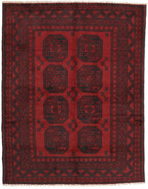 Afghan Tapis 148X190 D'orient Fait Main Rouge Foncé/Marron Foncé (Laine, Afghanistan)