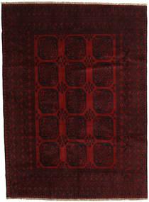 Afghan Tapis 203X279 D'orient Fait Main Marron Foncé/Rouge Foncé (Laine, Afghanistan)