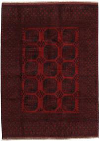 Afghan Tapis 199X275 D'orient Fait Main Rouge Foncé (Laine, Afghanistan)