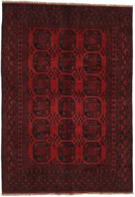 Afghan Tapis 196X283 D'orient Fait Main Rouge Foncé/Rouge (Laine, Afghanistan)