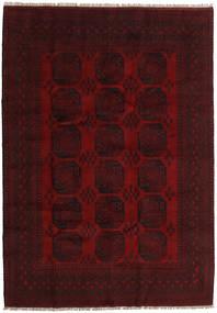 Afghan Tapis 203X287 D'orient Fait Main Marron Foncé/Rouge Foncé (Laine, Afghanistan)