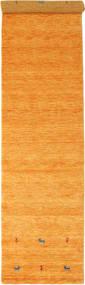 Gabbeh Loom Two Lines - Orange Tapis 80X350 Moderne Tapis Couloir Orange/Marron Clair (Laine, Inde)