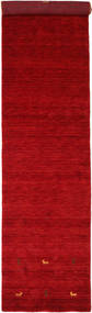 Gabbeh Loom Two Lines - Rouge Tapis 80X350 Moderne Tapis Couloir Rouge/Rouge Foncé (Laine, Inde)